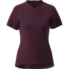 Zimtstern EcoFlowz Maglietta a Maniche Corte Donna, rosso